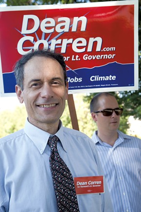 Progressive Dean Corren campaigns for lieutenant governor Tuesday. - MATT THORSEN