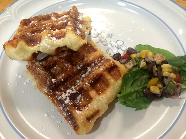 Prosciutto, Gouda and honey wafflini - ALICE LEVITT
