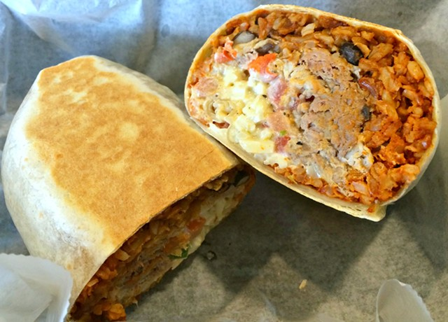 Pulled-pork burrito, $7 - ALICE LEVITT