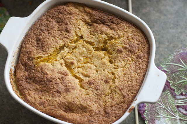 Pumpkin pudding, fresh from the oven. - HANNAH PALMER EGAN