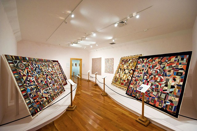 Quilts in the Hat and Fragrance Textile Gallery - COURTESY OF SHELBURNE MUSEUM