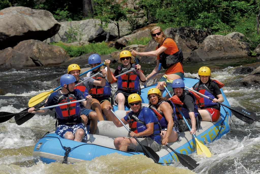 Rafting group on the river - COURTESY OF JIM SWEDBERG