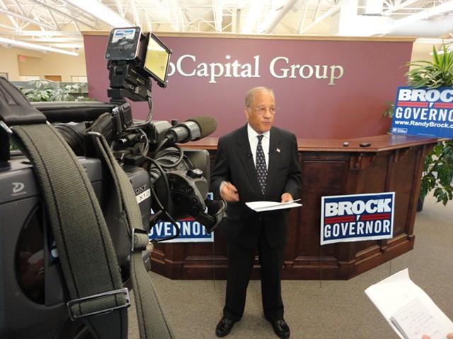 Randy Brock during his 2012 gubernatorial campaign - FILE: PAUL HEINTZ