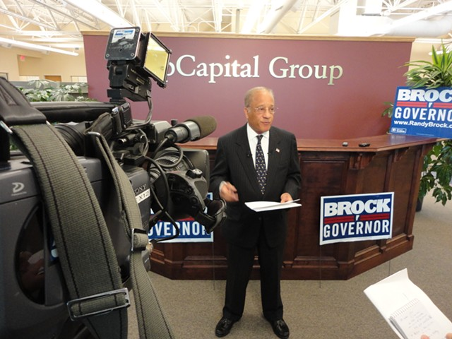 Randy Brock during his 2012 gubernatorial campaign - FILE: PAUL HEINTZ