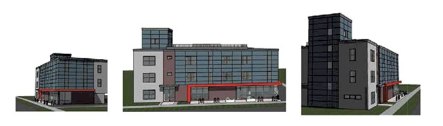 Redstone's design for the North Winooski Avenue apartments