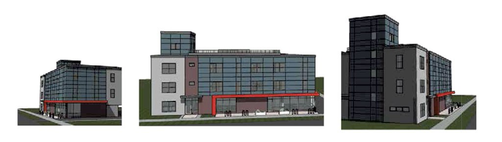 Redstone's design for the North Winooski Avenue apartments