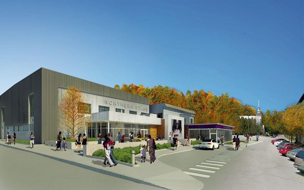 Rendering of the completed Northern Stage theater - COURTESY OF NORTHERN STAGE