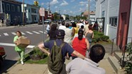 Hungry Vermonters Get in Line for Imani's Monthly Food-For-All