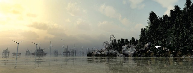"""""""Rivermouth"""" by John Douglas - COURTESY OF SEABA"""