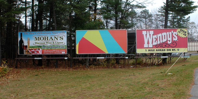 Rob Hitzig's art billboard in Queensbury, N.Y. - COURTESY OF ROB HITZIG