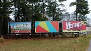 Rob Hitzig's art billboard in Queensbury, N.Y.