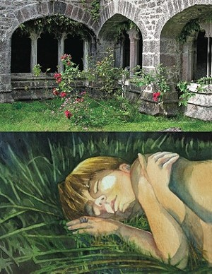 "COURTESY OF THE BRANDON ARTIST'S GUILD - ""Roses in the Cloister Yard"" by Lowell Snowdon Klock and ""Under the Stars"" by Jean Cannon"