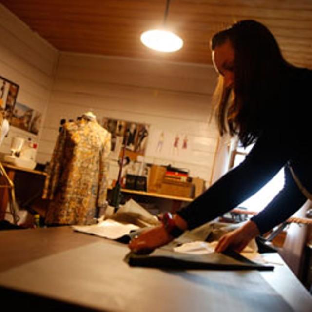 Rosie Grannis in her studio - JORDAN SILVERMAN