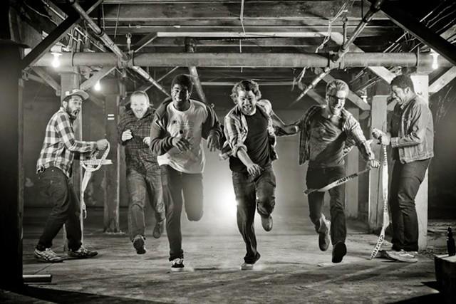 Rough Francis in February 2013: Julian Hackney, Steve Williams, Urian Hackney, Paul Comegno, Dylan Giambatista and Bobby Hackney - COURTESY: ISAAC WASUCK
