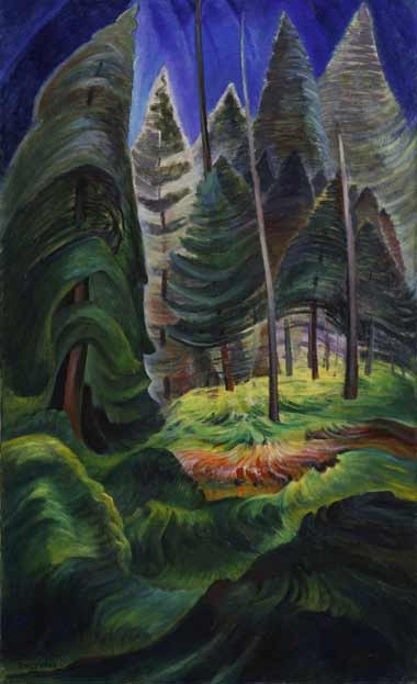 """""""Rushing Sea of Undergrowth"""" by Emily Carr"""