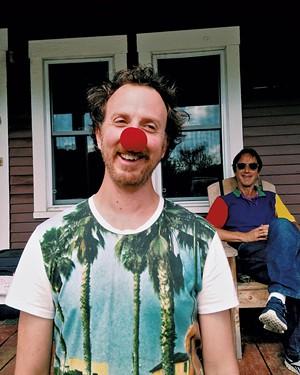 Ryan Miller with Rob - Mermin of Circus Smirkus - COURTESY OF VERMONT PBS