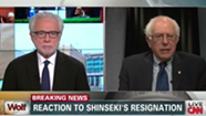 'Saddened' Over Shinseki's Resignation, Sanders Says Obama Should Not Have Accepted It