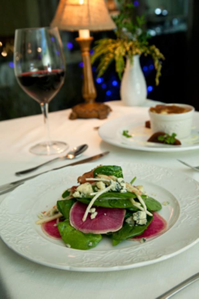 Salade d'Epinard and Fromage Soufflé - MATTHEW THORSEN