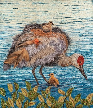 "COURTESY OF VALLEY ARTS FOUNDATION - ""Sandhill Cranes With Babies"" by Sandra Grant"