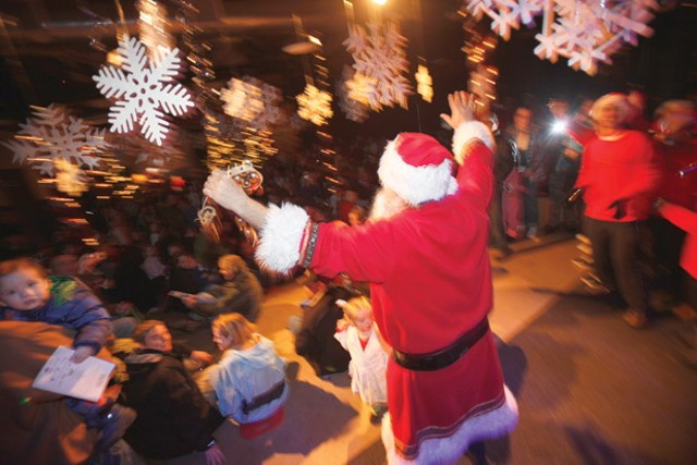 Santa Claus greets children at Union Station. - JORDAN SILVERMAN