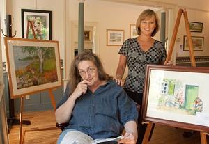 Sarah Robinson and Jeri Baker