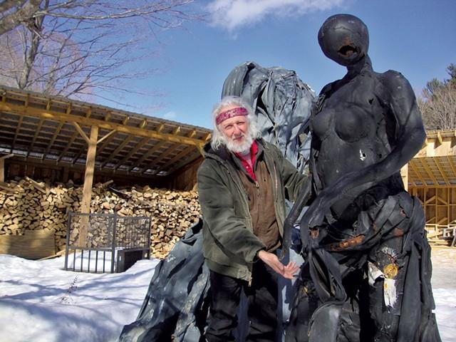 Sass highlights the damage to the sculptures - MEG BRAZILL
