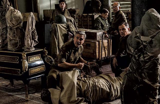 SAVING PRIVATE COLLECTIONS Clooney's earnest but inert war story packs the punch of an art appreciation class.