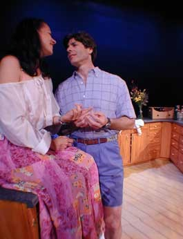 SCENES FROM A MARRIAGE: Robin Walsh as Beth and MIchael Mendelson as Tom revisit happier times - MATTHEW THORSEN