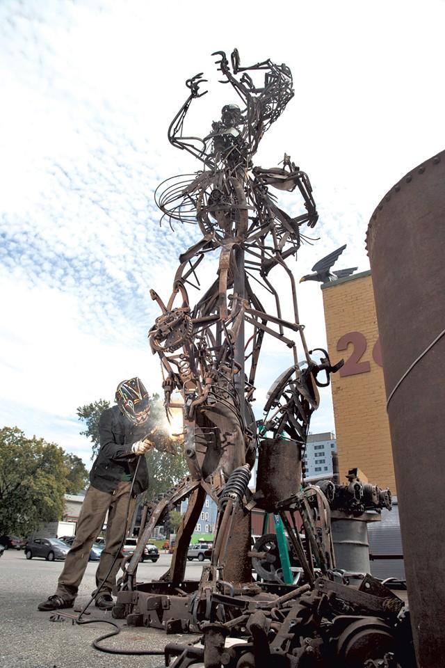 Sculpture by Tyler Vendituoli - FILE PHOTO BY MATTHEW THORSEN