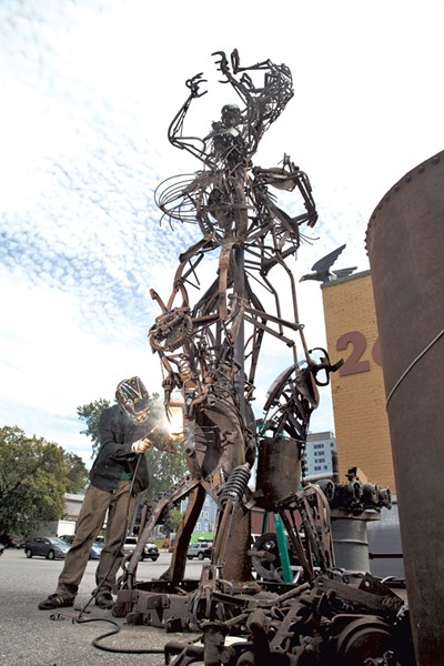Sculpture by Tyler Vendituoli - FILE PHOTO BY MATTHEW THORSEN