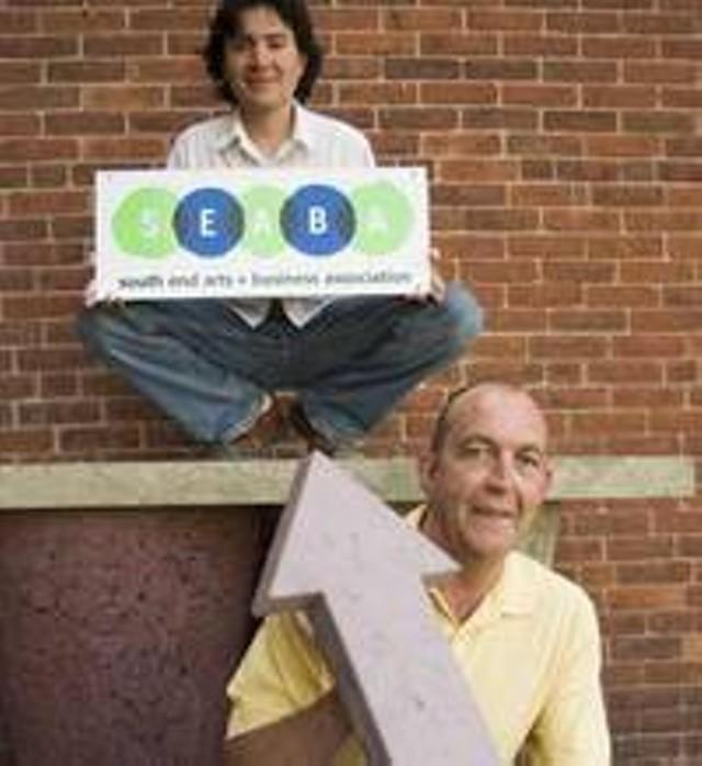 Seaba Director Carlos Hase and Art Hop Coordinator Bob Bolyard - MATTHEW THORSEN