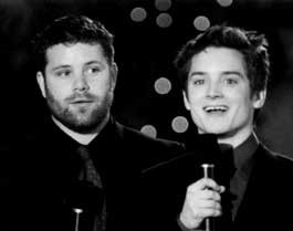 SEAN ASTIN and Elijah Wood of Lord of the Rings: The Fellowship of the Ring at the AFI Awards