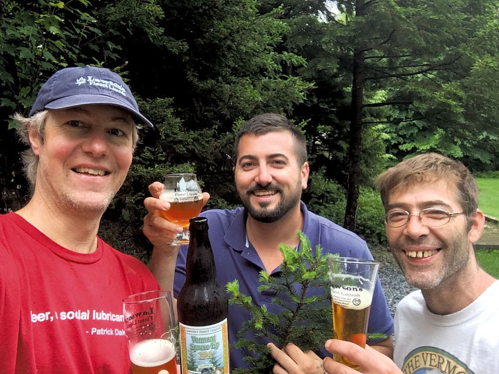 Sean Lawson, Tommy Noonan - and Russ FitzPatrick - COURTESY OF VERMONT PUB & BREWERY