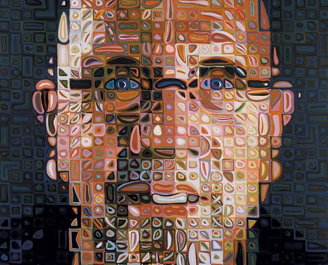 """Self Portrait Screenprint"" by Chuck Close"