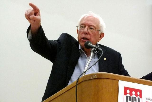 Sen. Bernie Sanders campaigns in Iowa last September. - FILE: ADAM BURKE