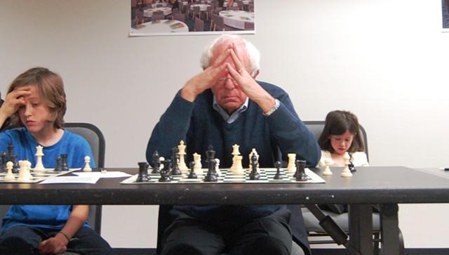 Sen. Bernie Sanders contemplates a move. - CHARLIE ENSCOE
