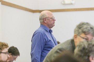 Sen. Norm McAllister at Franklin Superior Court last Friday - FILE: GREGORY J. LAMOUREUX, COUNTY COURIER