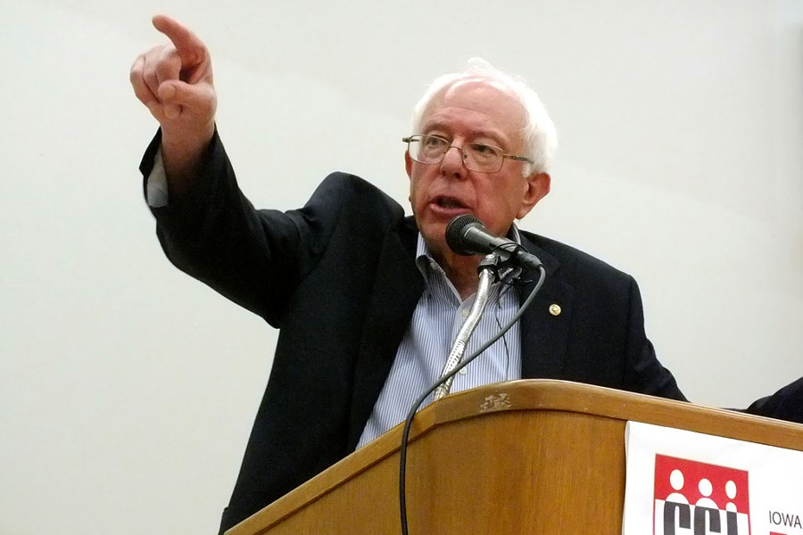 Sen. Sanders in Iowa in September 2014 - FILE: ADAM BURKE
