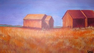 """COURTESY OF NUANCE GALLERY - """"Sentinels,"""" acrylic on canvas by Elizabeth Beliveau"""