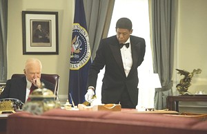 SERVING IN SILENCE Whitaker caters to a slew of miscast guest presidents in Daniels' drama.