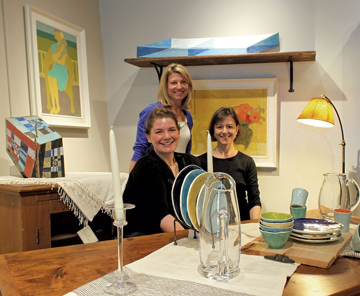 Shawna Cross, Rachel Teachout, and Kate Smith - COURTESY OF EDGEWATER GALLERY