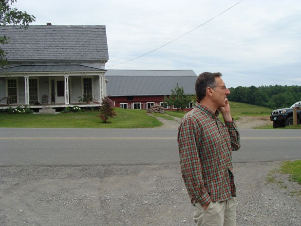 Shumlin at the Ranney dairy farm in Westminster in 2010