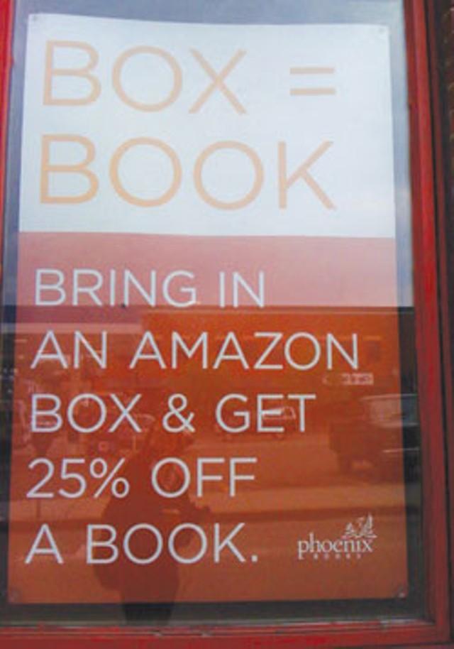 sign at Phoenix Books