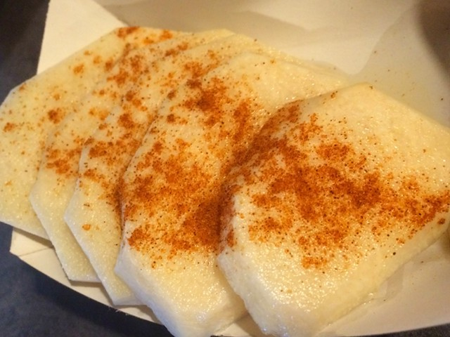 Sliced jicama - ALICE LEVITT