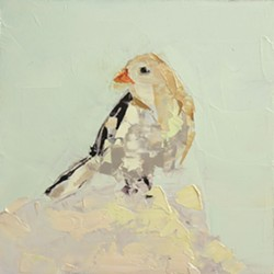 """""""Snow Bunting"""" by Rebecca Kinkead - COURTESY OF WEST BRANCH GALLERY"""