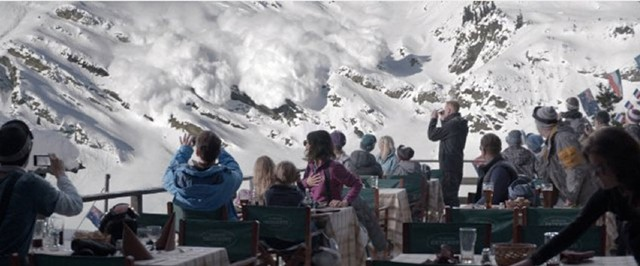 SNOW JOB: Östlund's drama may be the first non-disaster film where an avalanche gets a starring role.