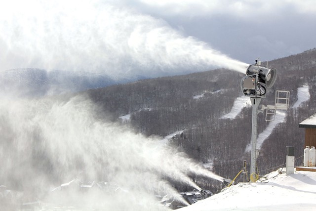 Snowmaking at Stowe - COURTESY OF VERMONT SKI ASSOCIATION