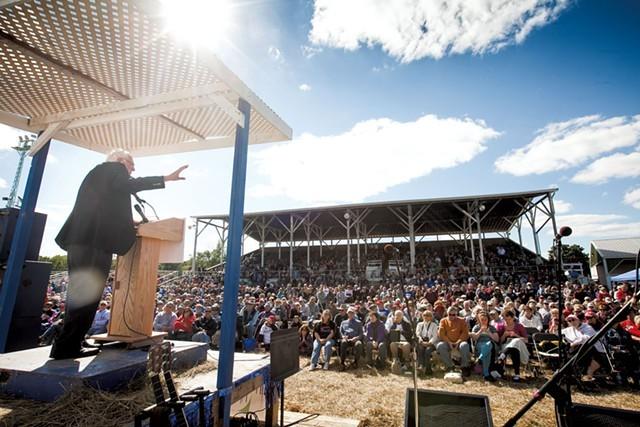 Sen. Bernie Sanders in Wisconsin in September 2014 - FILE: ERIC TADSEN
