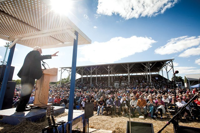 Sen. Bernie Sanders in Wisconsin in September 2014 - FILE: ERIC TADSEN