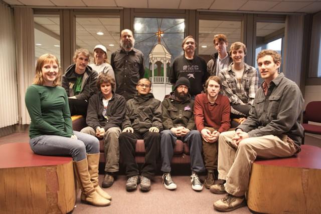 St. Michael's custodians and Student Labor Action Movement members - MATTHEW THORSEN